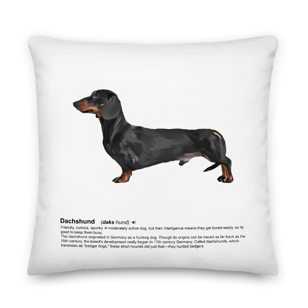 Dachshund Heritage Scatter Cushion - Pedigree Prints