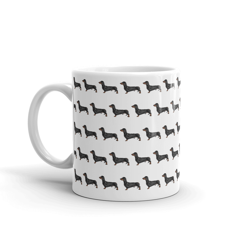 Dachshund Pattern Mug - Pedigree Prints