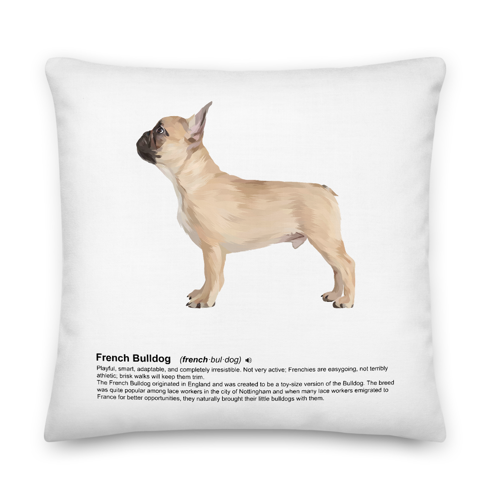 French Bulldog Heritage Scatter Cushion - Pedigree Prints