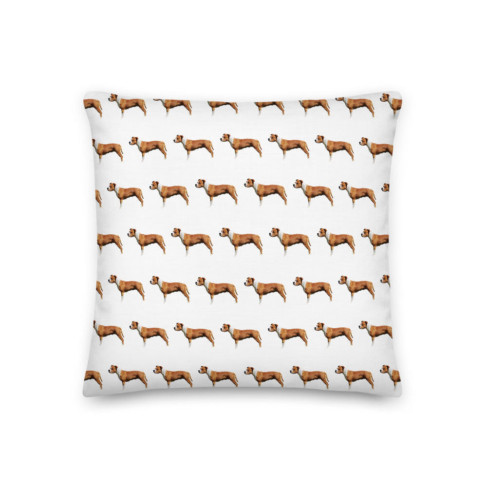 Staffordshire Bull Terrier Pattern Scatter Cushion - Pedigree Prints