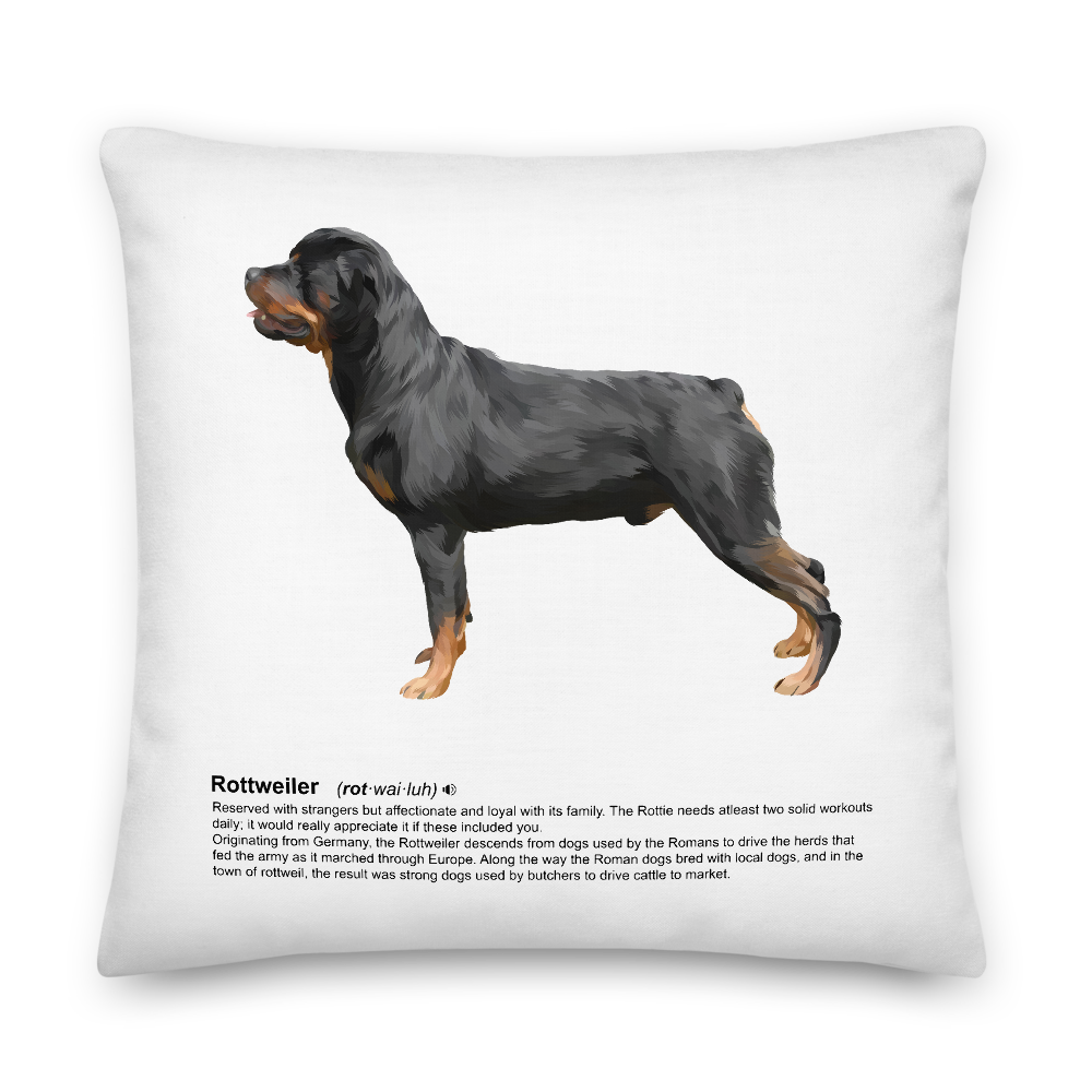 Rottweiler Heritage Scatter Cushion - Pedigree Prints