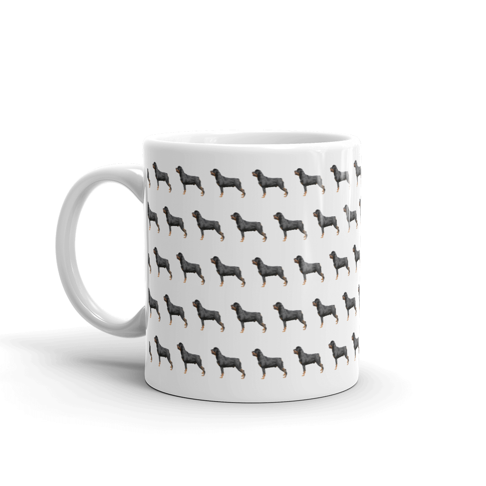 Rottweiler Pattern Mug - Pedigree Prints