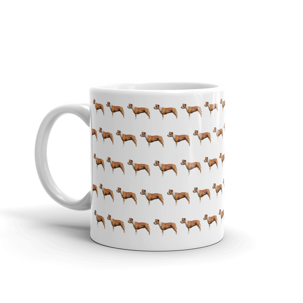 Staffordshire Bull Terrier Pattern Mug - Pedigree Prints