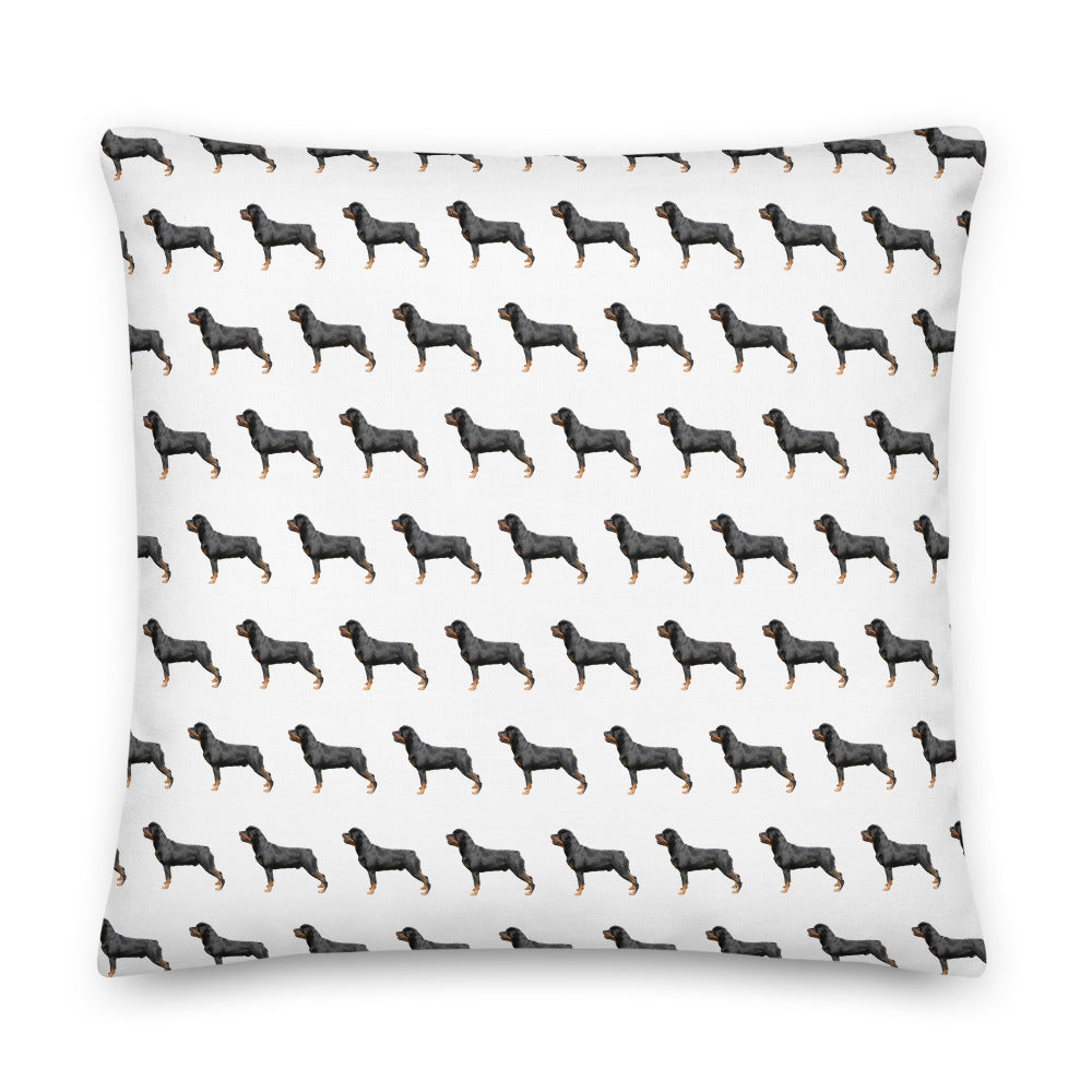 Rottweiler Pattern Scatter Cushion - Pedigree Prints