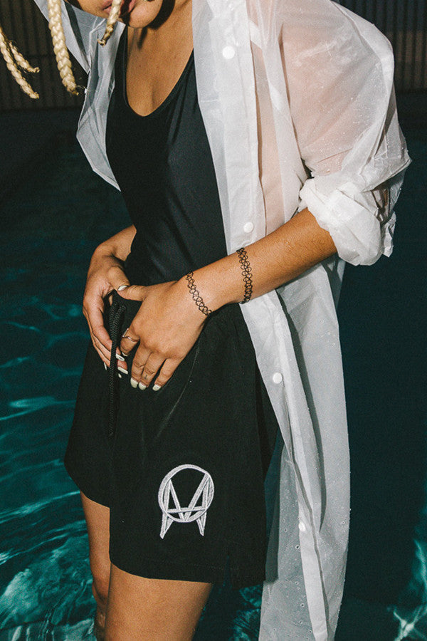 'EMBROIDERED LOGO' SWIM SHORTS // UNISEX