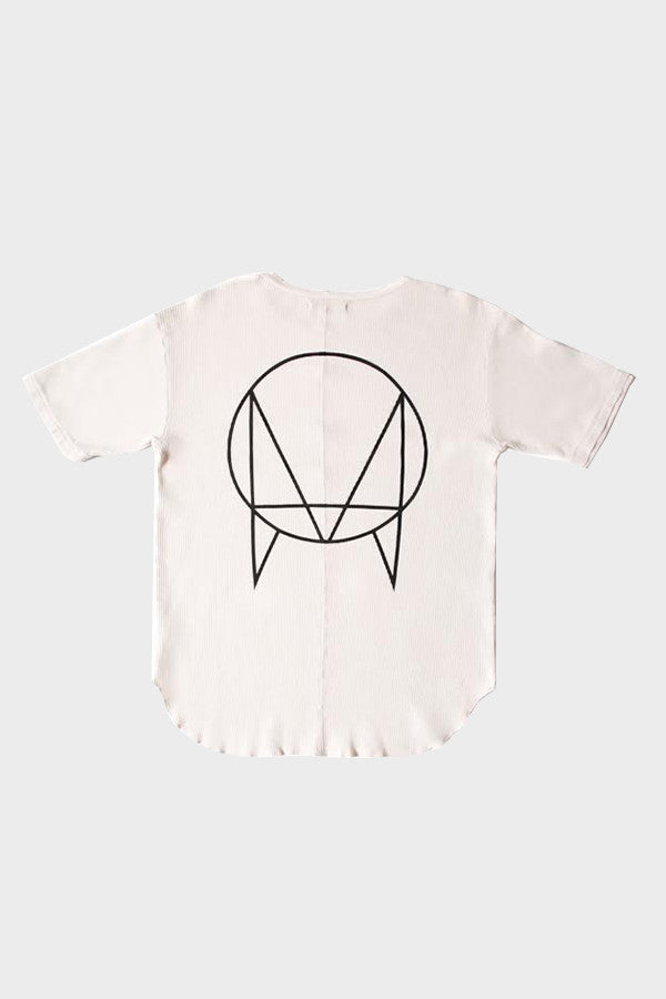 'OWSLA LOGO' SHORT SLEEVE THERMAL SHIRT CEMENT // UNISEX