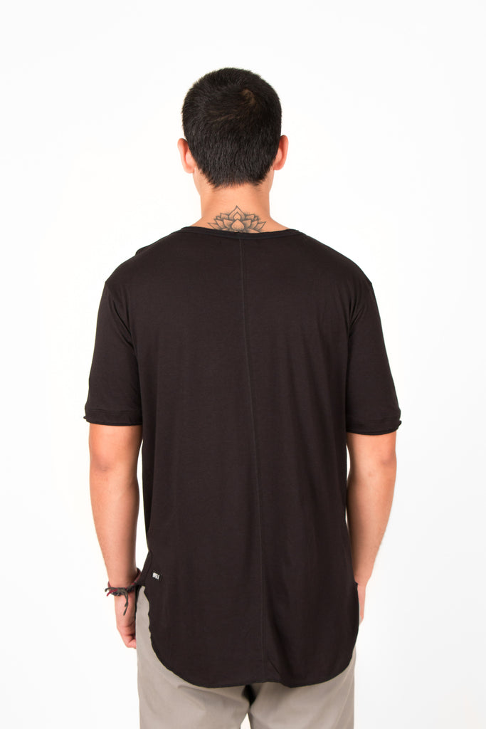 'MODAL' SHORT SLEEVE SHIRT BLACK // UNISEX