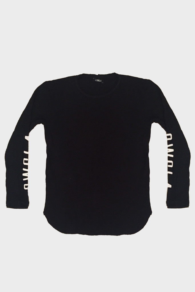 'OWSLA LOGO' LONG SLEEVE THERMAL SHIRT BLACK // UNISEX