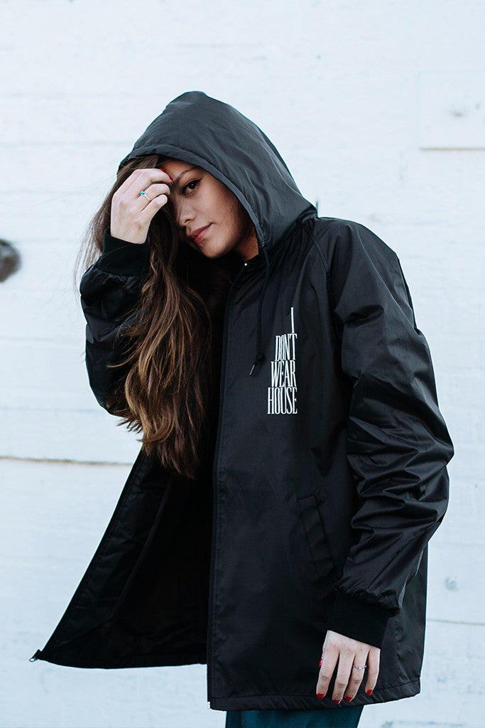 'WAREHOUSE' HOODED ZIP-UP JACKET // UNISEX