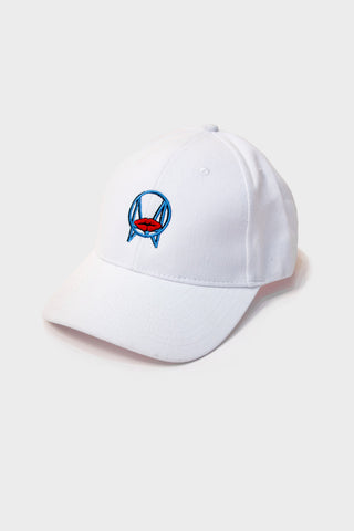 BLOBS ART LOGO DAD HAT // WHITE