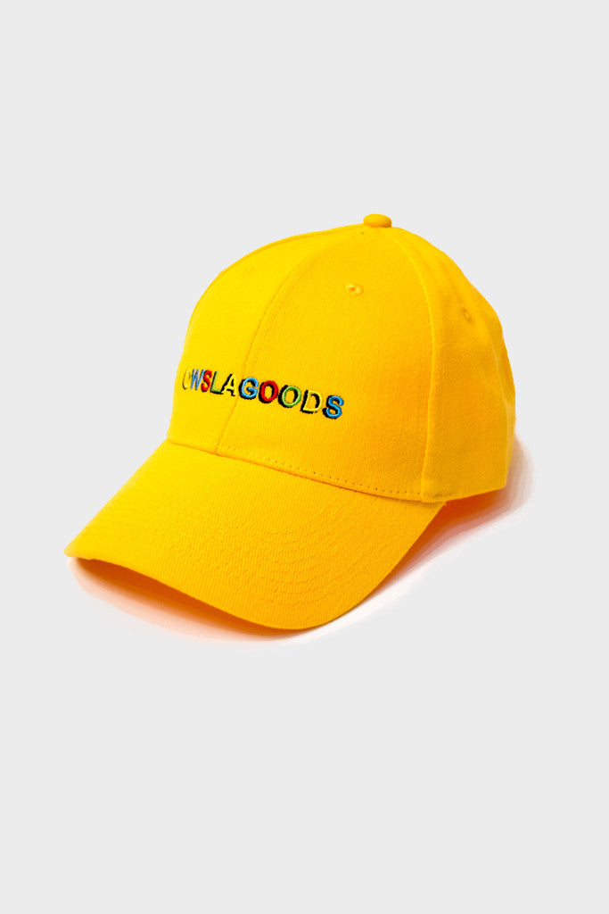 BLOBS ART SCRIPT DAD HAT // YELLOW