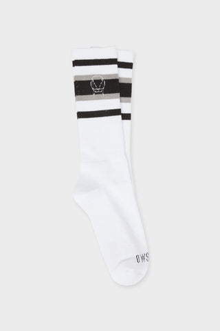 'OWSLA' WHITE GREY BLACK SOCKS // UNISEX