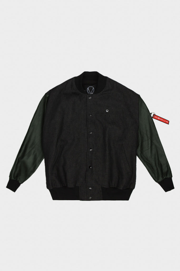 'PATCH KEYCHAIN' JACKET BLACK GREEN // UNISEX