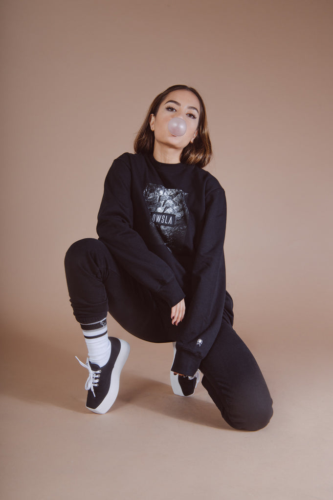 'FOREST PATCH' CREW SWEATSHIRT BLACK // UNISEX