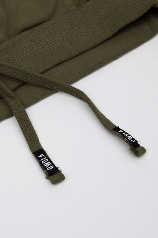 'FRENCH TERRY PATCH LOGO' POCKET CREW GREEN // UNISEX