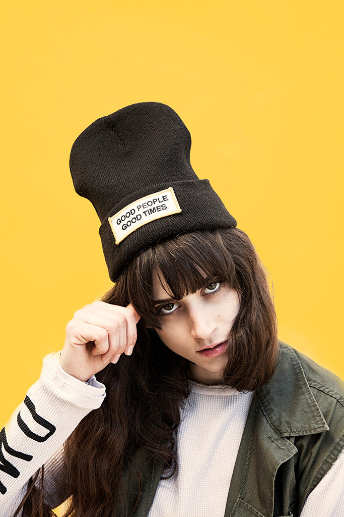 'GOOD PEOPLE, GOOD TIMES' BEANIE