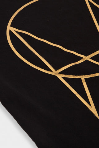 'GARMENT DYE PATCH LOGO' T-SHIRT // GOLD //  UNISEX