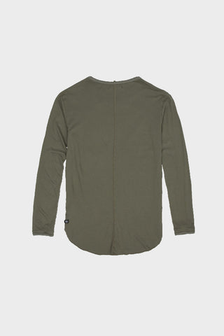 'MODAL' LONG SLEEVE SHIRT OLIVE // UNISEX