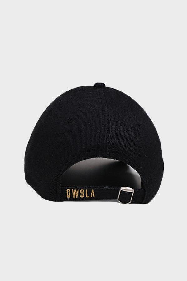 'OWSLA LOGO' DAD HAT // BLACK WITH GOLD LOGO