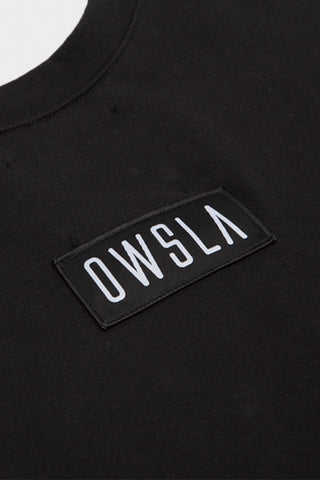 'OWSLA PATCH' CREW SWEATSHIRT BLACK // UNISEX