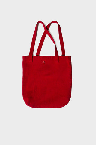 'OWSLA' LOGO TOTE BAG // RED