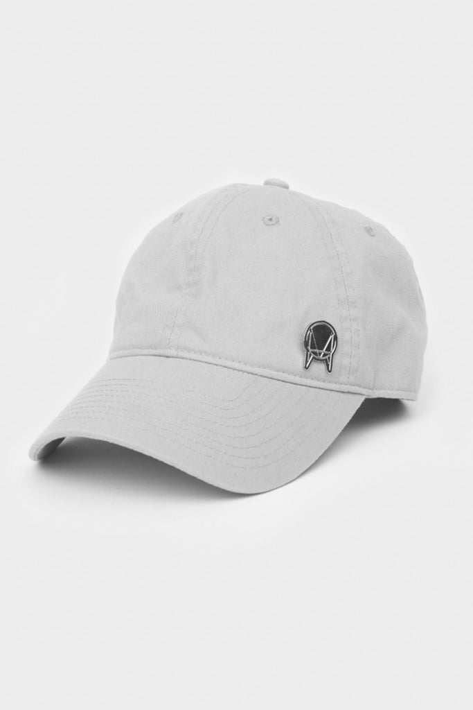 'OWSLA' UNSTRUCTURED HAT // GREY WITH SILVER PIN