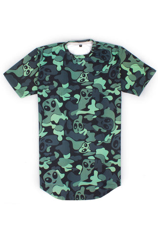 SKRILLEX 'CAMO' LONG TAIL T-SHIRT // UNISEX