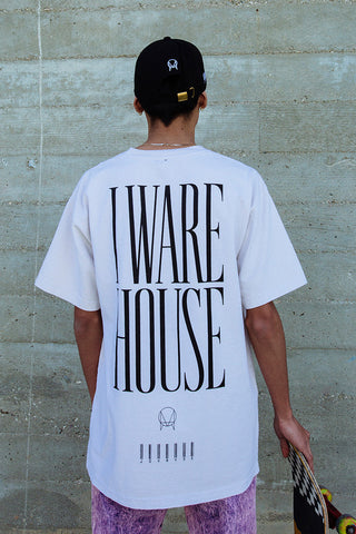 'WAREHOUSE' TEE // CEMENT