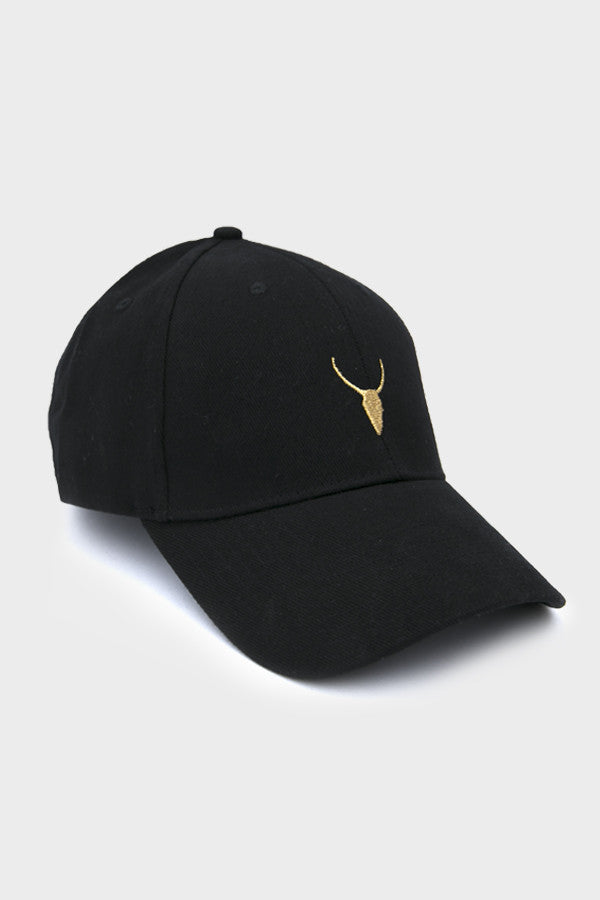 YOGI 'LOGO' DAD HAT // BLACK WITH GOLD LOGO