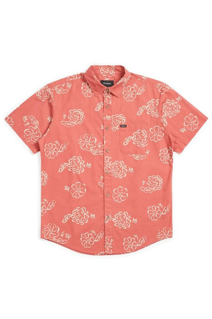 BRIXTON CHARTER PRINT WOVEN LAVA RED
