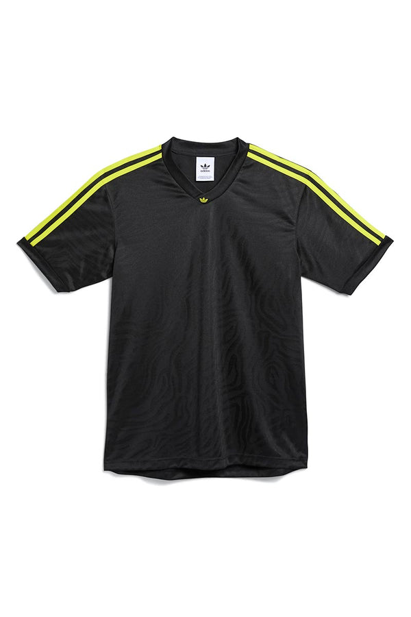 ADIDAS SKATEBOARDING JACQUARD JERSEY Black / Acid Yellow
