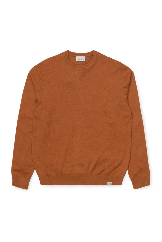 CARHARTT WIP PLAYOFF SWEATER BRANDY