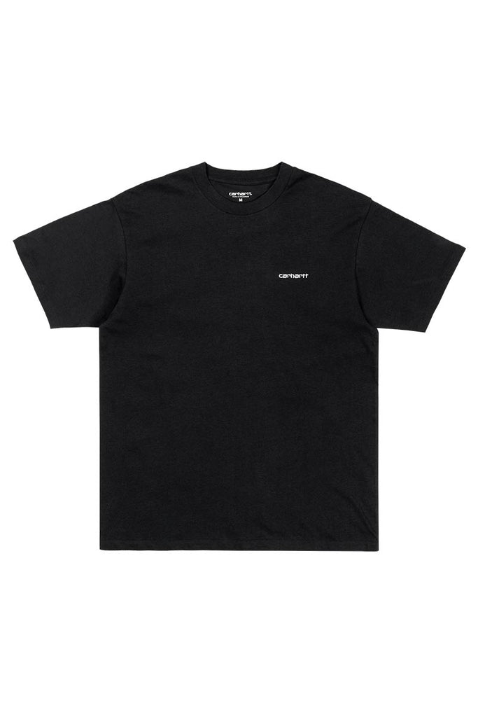 CARHARTT WIP SCRIPT EMBROIDERY TEE BLACK/WHITE