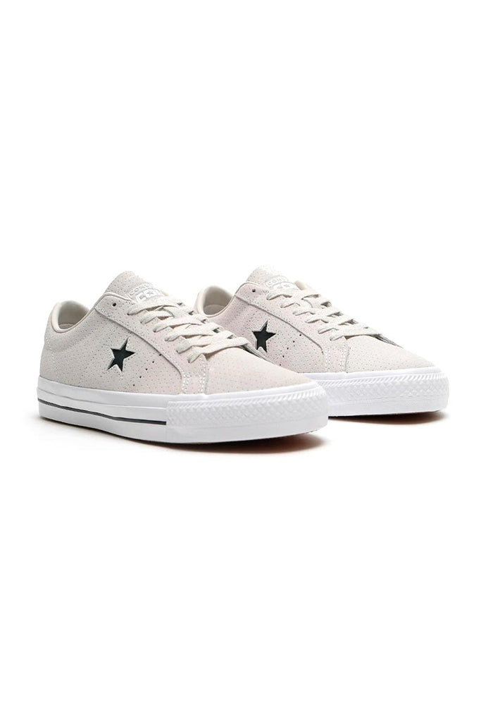 CONVERSE ONE STAR PRO PERF SUEDE - Pale Putty/White/White