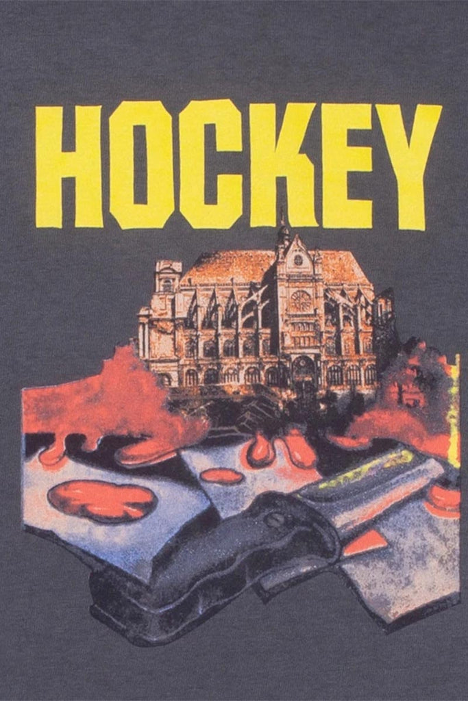 HOCKEY St. KEV TEE DYED CHARCOAL