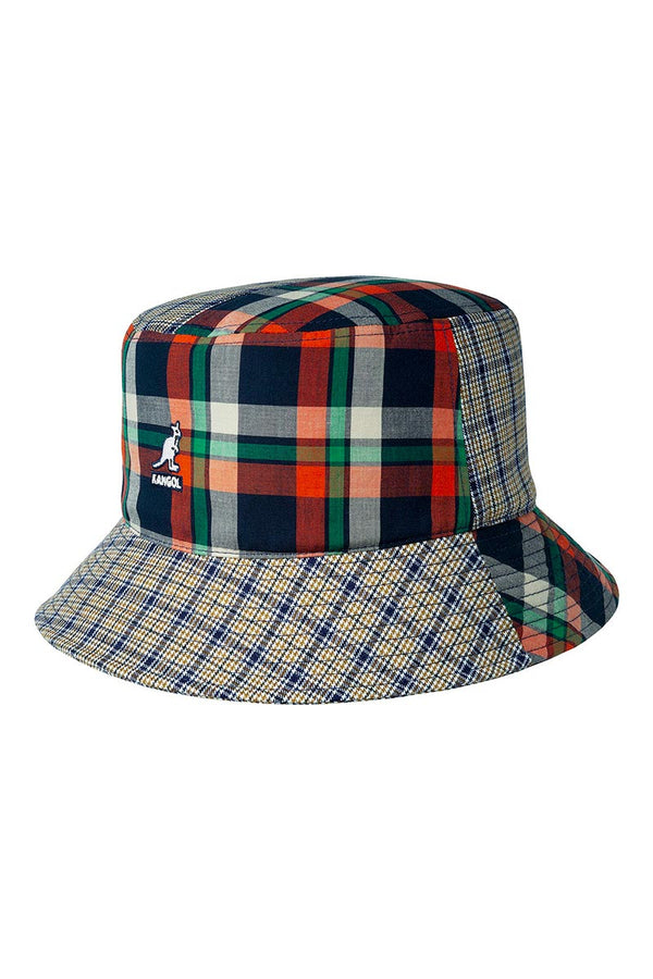 KANGOL PLAID MASHUP BUCKET Golden Palm