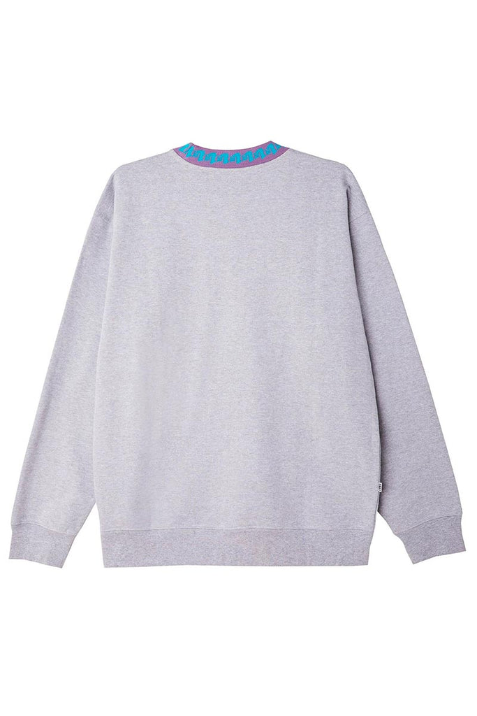 OBEY JACQUARD CREW SWEAT Ash Grey