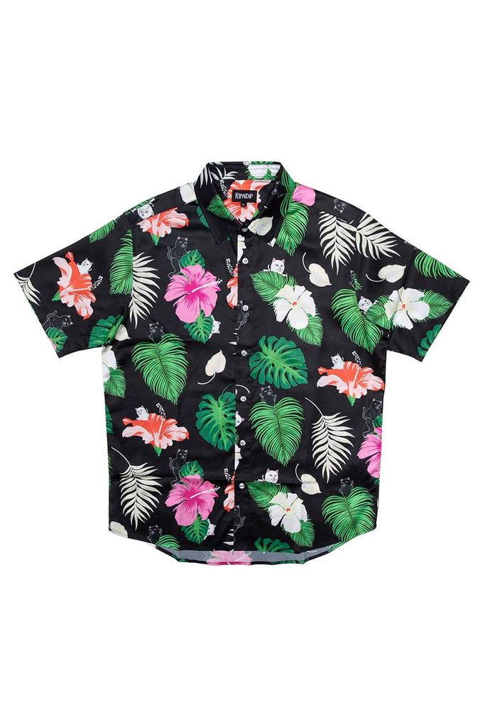RIP N DIP MAUI NERM BUTTON UP SHIRT BLACK