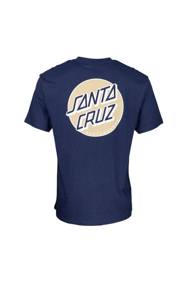 SANTA CRUZ MISSING DOT TEE DARK NAVY