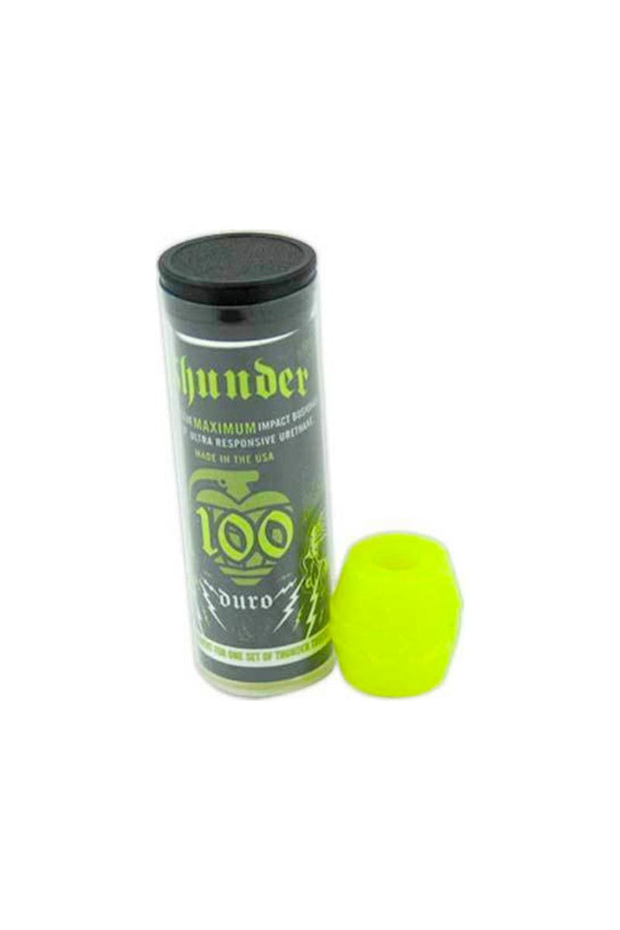 THUNDER BUSHINGS TUBE 100DU NEON YELLOW (JEU DE 4)