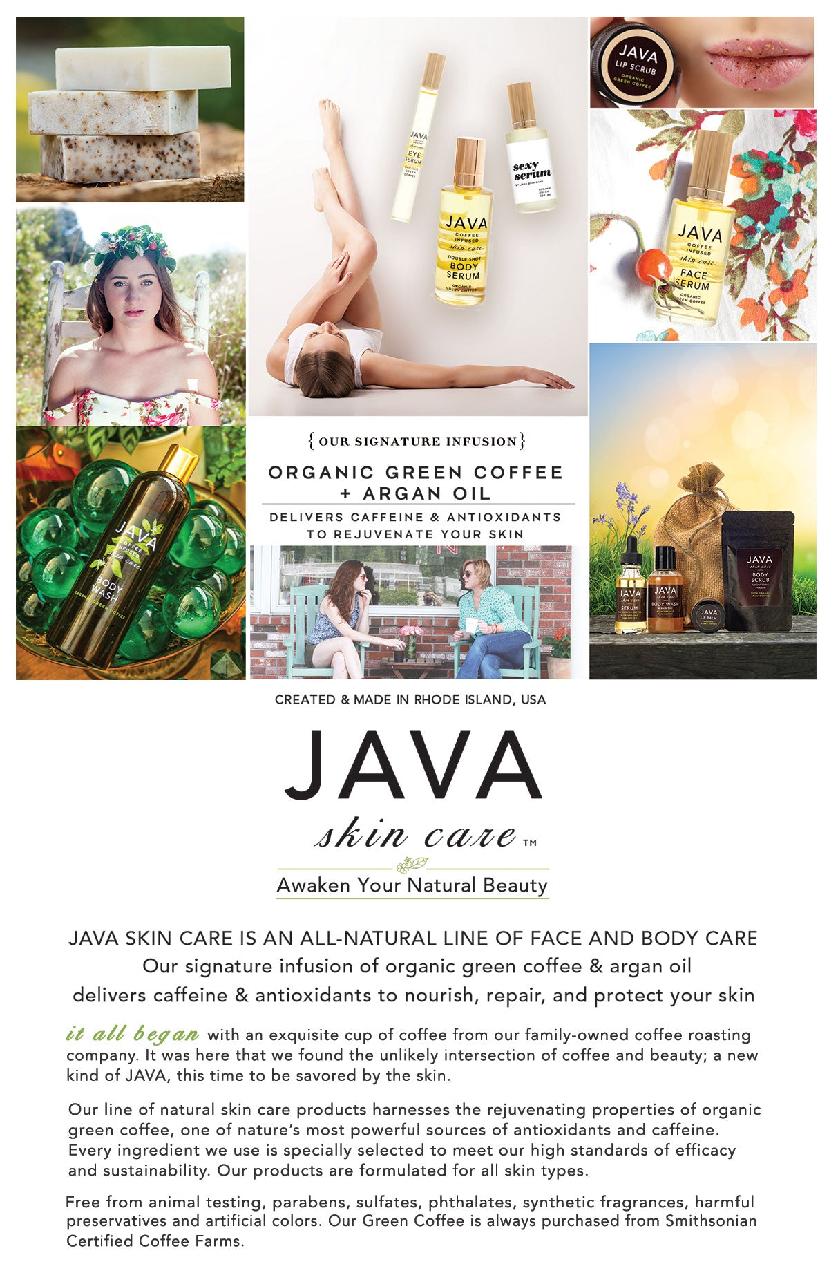java skin care product guide cover