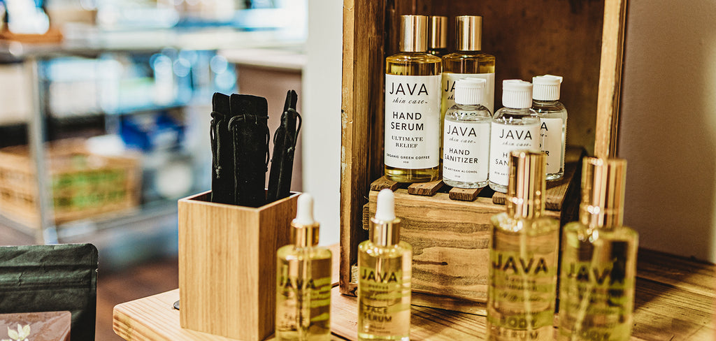 JAVA Skin Care Products page