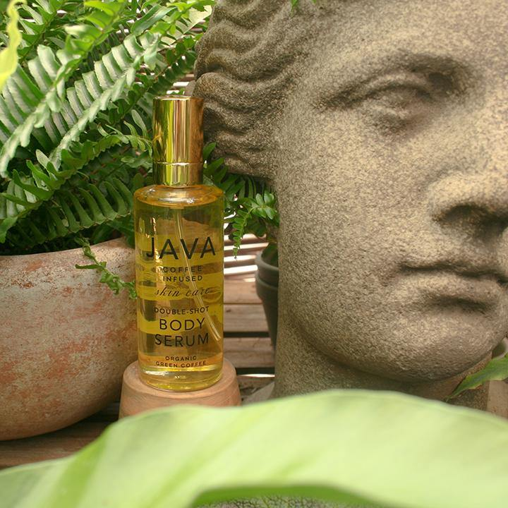 BODY SERUM displayed in greenhouse - Java Skin Care