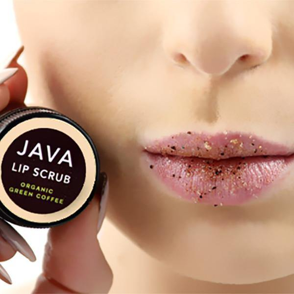 DEMITASSE LIP SCRUB is all natural and all ingredients are edible- Java Skin Care