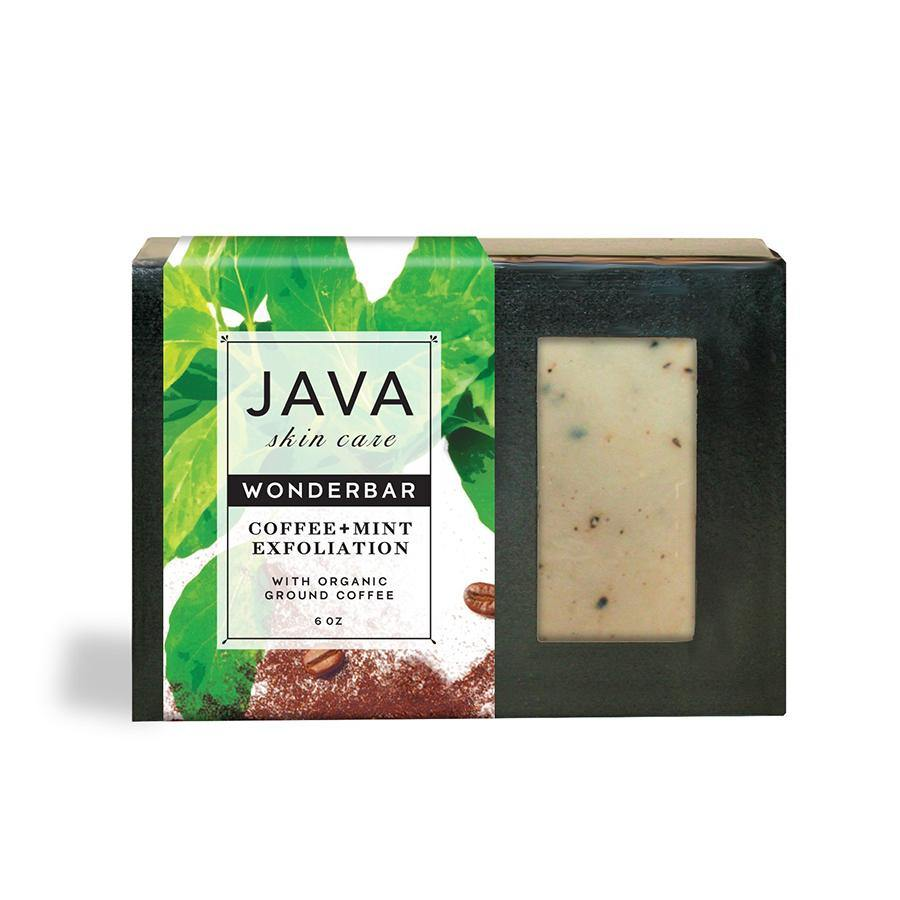 Mint exfoliating soap bar in a box