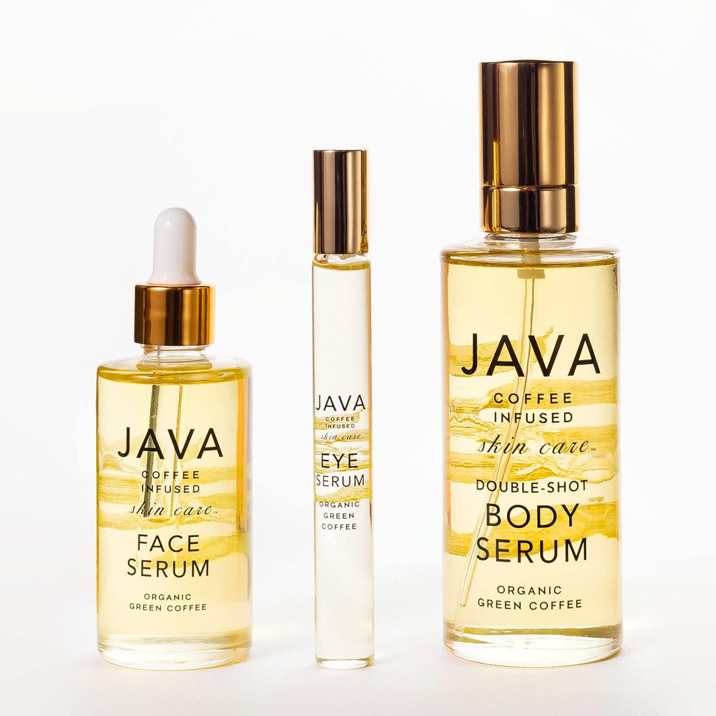 JAVA Luxury Serum Collection containing Face Serum, Eye Serum and Body Serum
