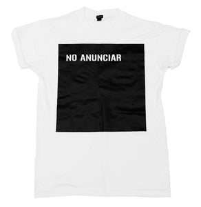 "Playera ""No anunciar"""