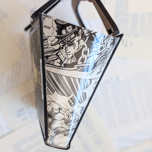 JoJo's Bizarre Adventure - Upcycled Recycled Tote Book Purse