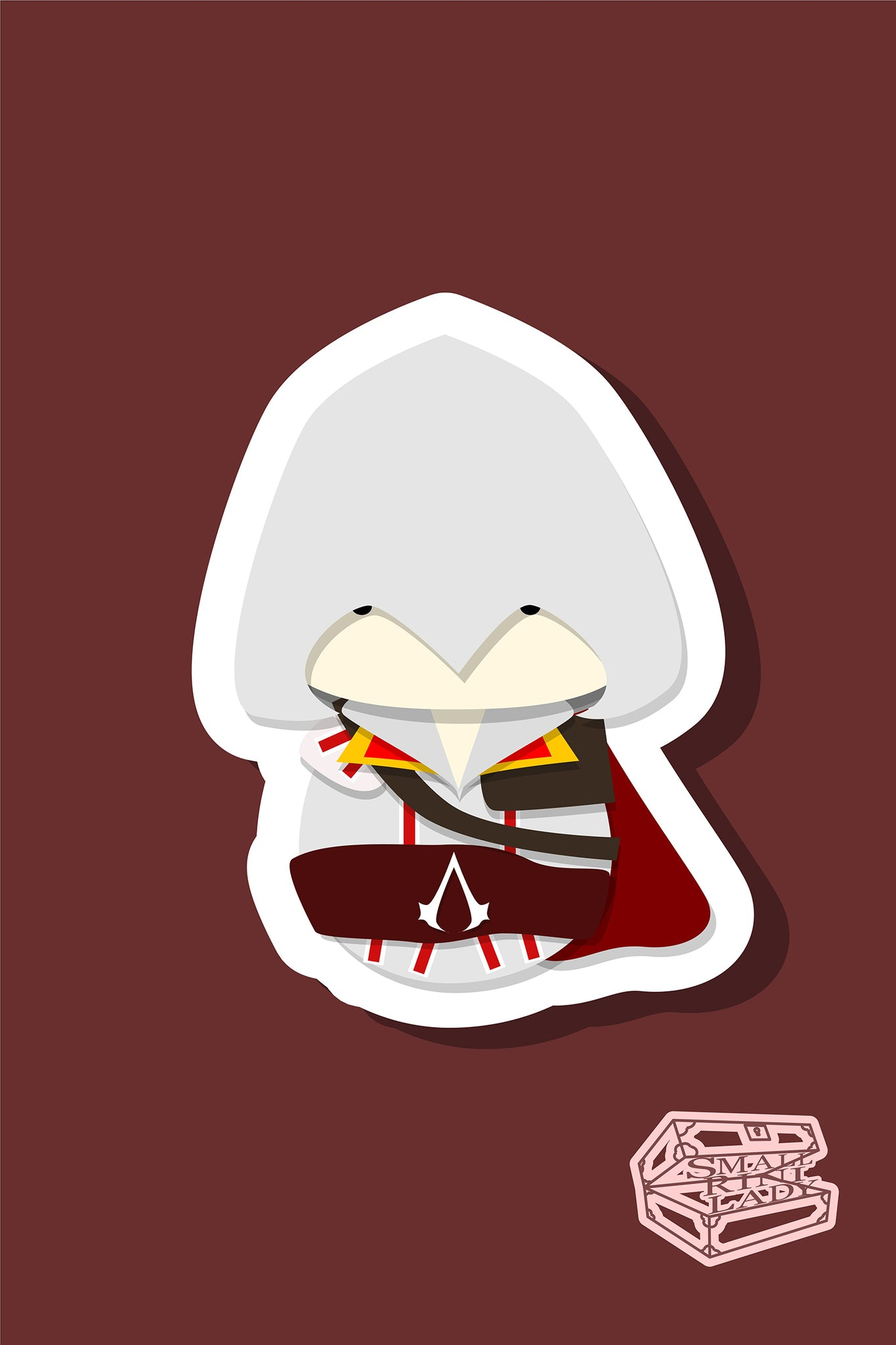 Assassin's Creed Inspired - PostCard Print Kawaii Chibi Creative Kokeshi