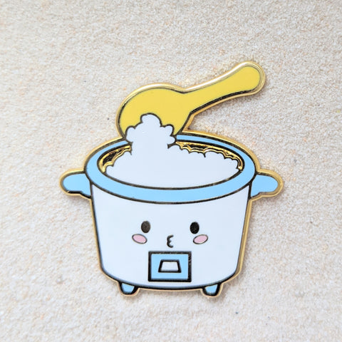 Foodie Rice Cooker- Enamel Pin